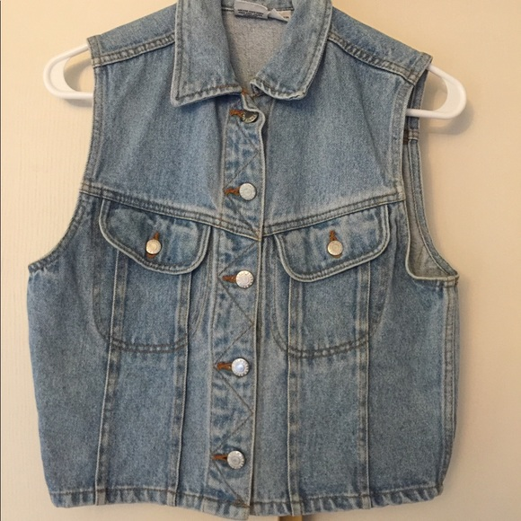 Jackets & Blazers - Vintage cropped denim vest